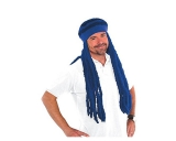 Blue Dreadlocks Wig Cap