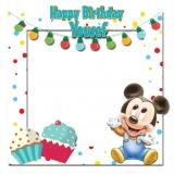 Mickey Mouse Happy Birthday Frame Medium Size