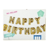 Happy Birthday Balloon Bunting No Helium Required