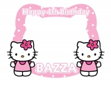 Hello Kitty Happy Birthday Frame Medium Size