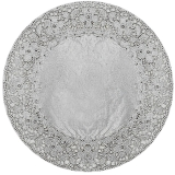Silver Foil Doilies 16.5 inches 3 count