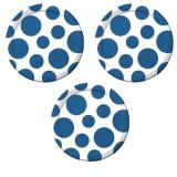 True Blue Polka Dots Paper Plates