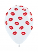All over Lips Printed Balloons One Piece