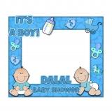 Boy Baby Shower Frame Medium Size