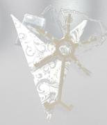 Glitter Print White Star