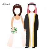 Bride and Groom Cut Out Stands