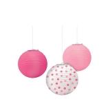 Pink Round Paper Lanterns