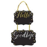 Hello New Year Chalkboard Hanging Decorations