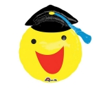 Happy Smiley Face Graduation Balloon