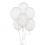 20 Helium  Latex Balloons Clear Balloons