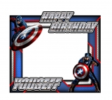 Captain America Theme Frame Small Size