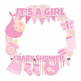 Girl Baby Shower Frame x-Large Size