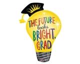 Grad Light Bulb Supershape Foil Balloon