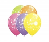 Get well Printed Balloons One Piece 11 inches in Assorted Colors