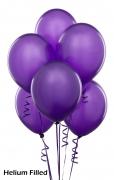 20 Helium Purple Color Latex Balloons