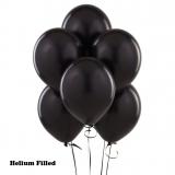 20 Helium Latex Balloons Black Color