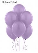 20 Helium Metallic Satin Pearl Lilac Latex Balloons