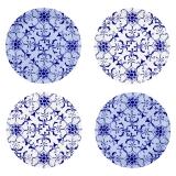 Party Porcelain Blue Canape Paper Plates