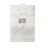 Party Porcelain Silver Square Paper Table Cover