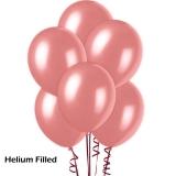 50 Helium Metallic Pink Latex Balloons