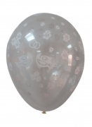 Clear Balloons Dove and Rings One Piece