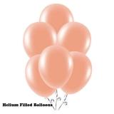 100 Helium Metallic Peach Latex Balloons