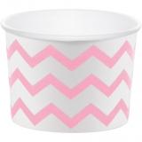Classic Pink Chevron Stripe Treat Cups