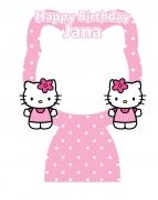 Hello Kitty Happy Birthday Frame x-Large Size