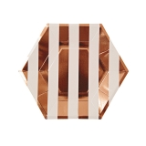 Rose Gold Stripped Small  Plates