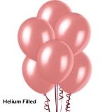 20 Helium Metallic Pink Latex Balloons