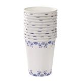 Party Porcelain Blue Paper Cups