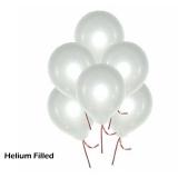 50 Helium White Latex Balloons