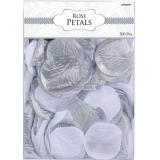 Confetti Fabric Petal Silver/White