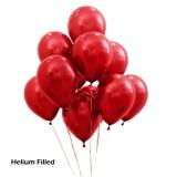 20 Helium Metallic Red Latex Balloons