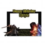Star Wars Happy Birthday Frame Large Size