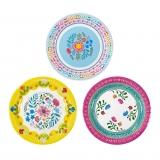 Boho Mix Floral Plates