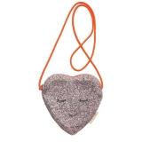 Glitter Heart Cross body Bag