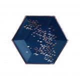 Erika - Navy Speckle Small Paper Plates