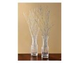 Silver Glitter Decorative Branches