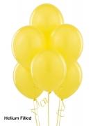 20 Helium Filled Latex Balloons Yellow