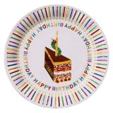Hungry Caterpillar Happy Birthday Plates