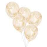 Gold Angel Hair Confetti Balloons