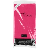 Hot Magenta Plastic Lined Table Cover
