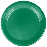 Heavy Duty Emerald Green Plastic Dinner Plates