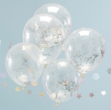 Jolly Vibes Holographic Glitter Confetti Balloons