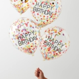 Happy Birthday Balloons with Confetti