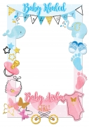 Baby Shower Frame Boy and Girl x-Large Size