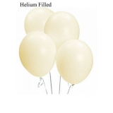 50 Helium Ivory Silk Latex Balloons