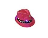 Light Up New Year Pink Hat