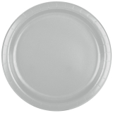 Shimmering Silver Dinner Paper Plates